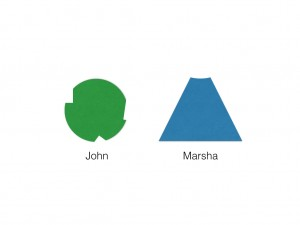 Alexander Technique psychology described using image of John and Marsha